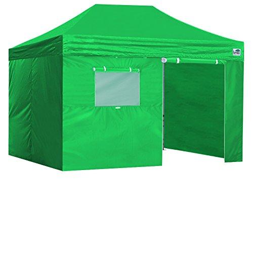 インタラクション敬意を表して援助新しいEurmax基本的なPop Upキャノピーwith sidewallsインスタントアウトドアパーティーテントシェードGazebo 8x12 Basic package-8x12Kelly green