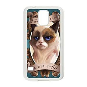 Nymeria 19 Customized Crumpy Cat Diy Design For Samsung Galaxy S5 Hard Back Cover Case DE-81