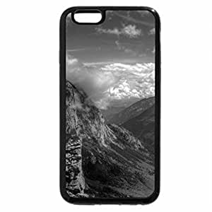 iPhone 6S Case, iPhone 6 Case (Black & White) - marvelous huge valley hdr