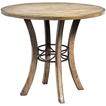 Round Wood Counter Height Table