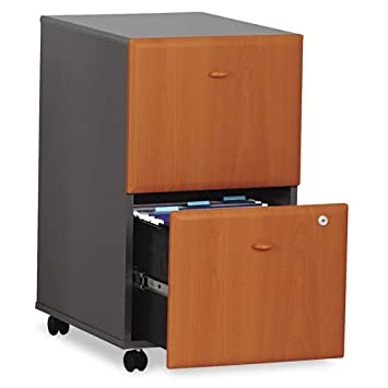 SERIES A: NATURAL CHERRY TWO-DRAWER FILE (SETUP)