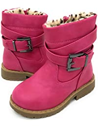 EASY21 Girls Fashion Cute Toddler/Infant Winter Snow Boots