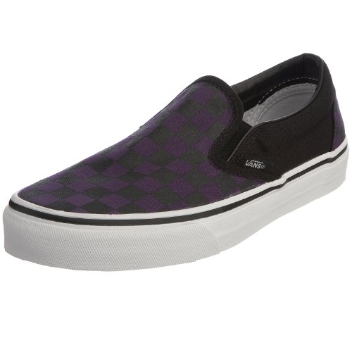 Classic Black Unisex Slip Adulto Grape Vans Gothic Zapatillas Checkerboard Morado On zUa66dq