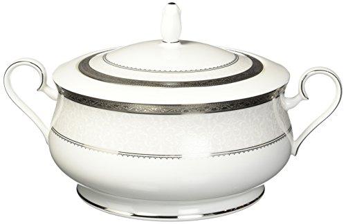 (Noritake Odessa Covered Vegetable Serving Bowl, 64-Ounce, Platinum)