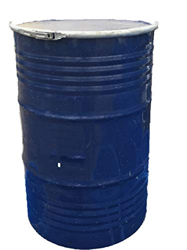 55 Gallon Used/Reconditioned Steel Trash Barrel | Burn Drum | Utility Storage | Refuse Composting Barrel ()