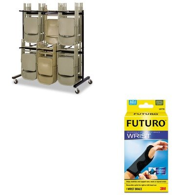 KITMMM10770ENSAF4199BL - Value Kit - Safco Two-Tier Chair Cart (SAF4199BL) and Futuro Adjustable Reversible Splint Wrist Brace (MMM10770EN) by Safco