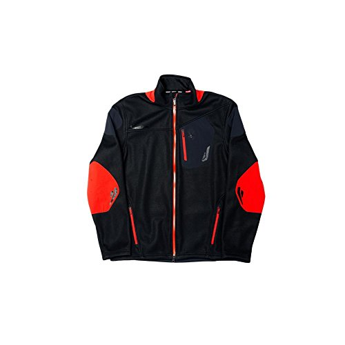 Spyder Men's Legend 3L Jacket, Black/Volcano, Medium