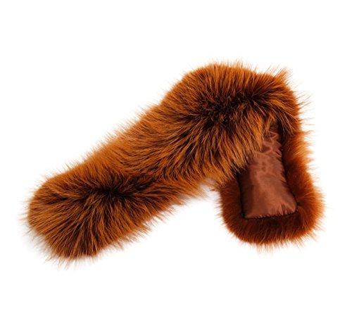 Desmontable de Cuello XXL piel bufanda Capucha Cuello 11 Parka nbsp;colores abrigo Caramelo xxZ5twdqr