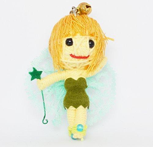 (VD018) Tinker Bell Cute Handmade String Voodoo Doll Keychain