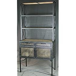 Vintage industrial hutch. Modern storage unit. Industrial pantry shelving. Reclaimed wood.