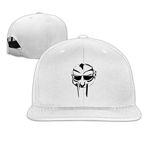 5b4df6c93e9 Fast O Furious Unisex Mf Doom Logo Flat Baseball Caps White ...