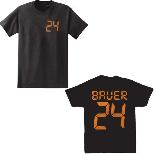 24 Men's Bauer Front and Back T-Shirt, Black, Small ()