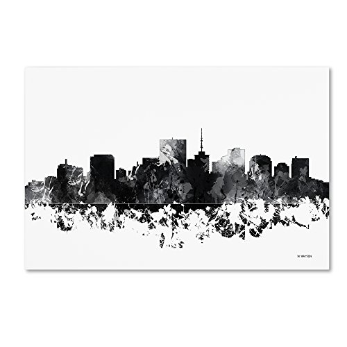 (Richmond Virginia Skyline BG-1 by Marlene Watson, 30x47-Inch Canvas Wall Art)