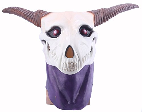 Yacn Novelty Latex Mask White Alpaca Mask Animal Head Mask Fancy Dress Party For Halloween Cosplay Parties Costume Decorations Full Face Rubber For Adults And Kids As Christmas Gift