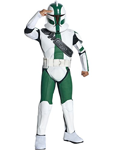 Big Boys' Deluxe Commander Gree Costume -