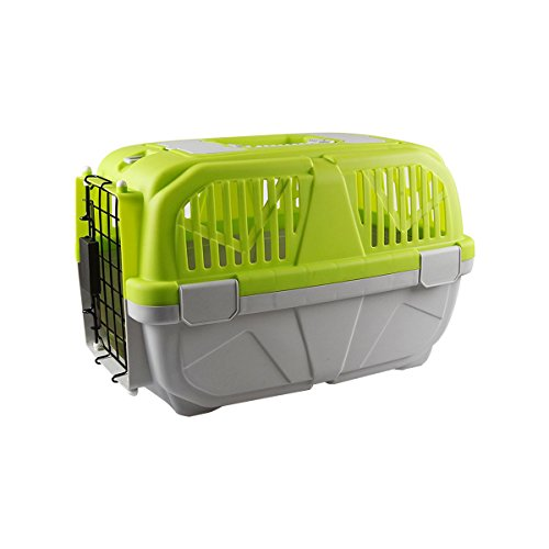 Airline Pet Carriers, FATPET Plastic Kennels Portable Plastic Airline Approved Wire Door Travel Dog Crate