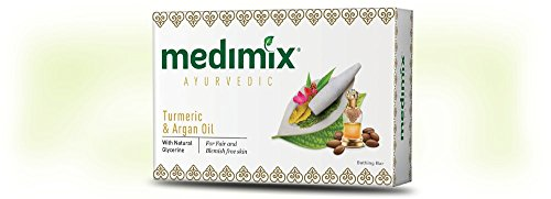 (Medimix Herbal Handmade Ayurvedic Soap with Turmeric and Argan Oil for Healthy Radiant Skin Pack of 12 (12 x 125)