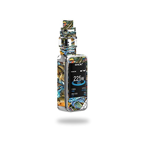 MightySkins Skin Compatible with SMOK X-Priv 225W - Action Fish Puzzle | Protective, Durable, and Unique Vinyl Decal wrap Cover | Easy to Apply, Remove, and Change Styles | Made in The USA