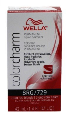 Wella Color Charm Liquid #0729/8Rg Titian Red Blonde (41ml) (6 Pack)