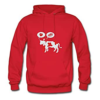 Love And Steak Red Personalized Women Casual Sweatshirts - X-large