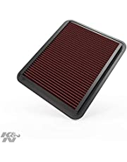 فلتر هواء لمحرك K&N: أداء عالي، ممتاز، قابل للغسل، فلتر استبدال: 2005-2012 Chevy/Buick/Cadillac/Pontiac (Malibu, Equinox, Lucerne, DTS, G6, Torrent), 33-2296