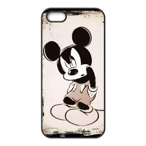 Mickey Mouse KG37YF5 coque iPhone 5 5s étui de téléphone cellulaire coque T7PX7K1JB