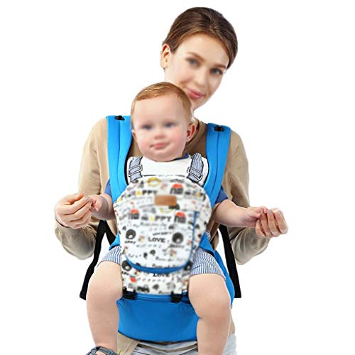 - GONGFF Baby Breathable Strap, Multi-Functional Baby Carrier, Ergonomic Breathable Newborn Sling, Suitable for All Occasions, Elastic Hands-Free Baby Carrier, Four Seasons Universal (Color : Blue)