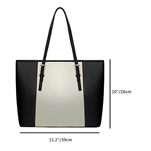 ZENTEII Faux PU Synthetische Frauen Leder Handtasche Umhängetasche Black ju7Im2