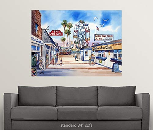 Amazon.com: Great Big Canvas Poster Print Entitled Balboa Fun Zone by Bill Drysdale 36