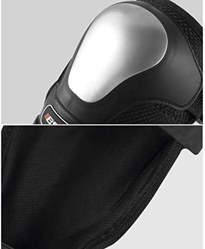LilyAngel オートバイの膝パッド肘パッドガードプロテクションギアセットマルチスポーツスケートボードインラインローラースケートサイクリング自転車BMX自転車スクーター-4個 (Color : ブラック)