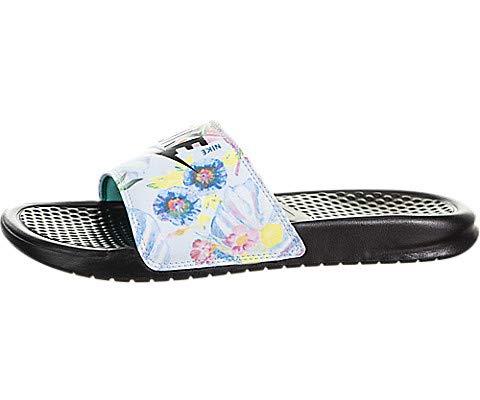 Nike Women's Benassi JDI Print Sandals, Pure Platinum/Black (US ()