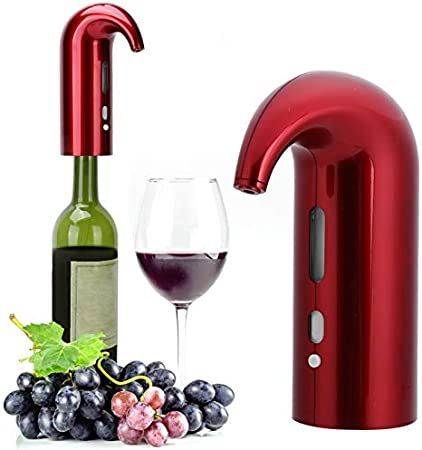 RBSD Aireador de Vino, vertedor, Sellado de Goma ultrasilencioso, Barra Universal, aireador de Vino eléctrico, Accesorio de Sommelier para Mejorar la pureza.(Black)