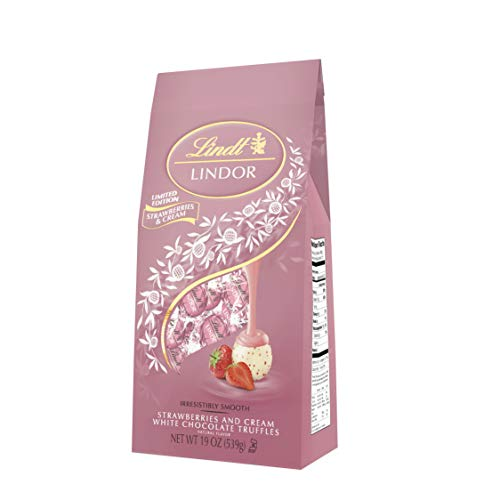 LINDOR Strawberries & Cream Chocolate Truffles, 19oz