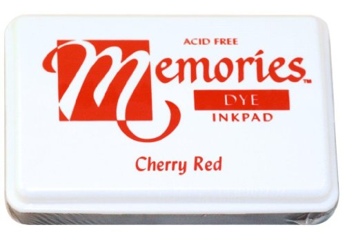 Memories 02-MEMCHR Acid-Free Dye Inkpad, 2-1/4 by 3-1/2-Inch, Cherry Red