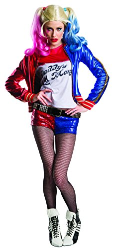 Charades Women's Suicide Squad Harley Quinn Costume, As Shown, Large