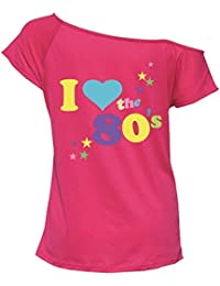 Ladies I Love The 80s Printed T Shirt Top Women Fancy Novelty Party Wear Shirt S/XXXL