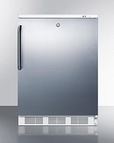 Summit VT65ML7BISSTB Upright Freezer, Stainless Steel by Summit