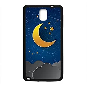 Moon Star Clouds Black Phone For Iphone 6Plus 5.5Inch Case Cover