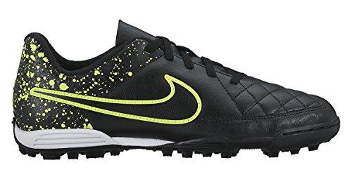 Nike Jr Tiempo Rio Ii Tf, Zapatillas de Deporte Para Niñas Negro / Verde (Black / Black-Volt)