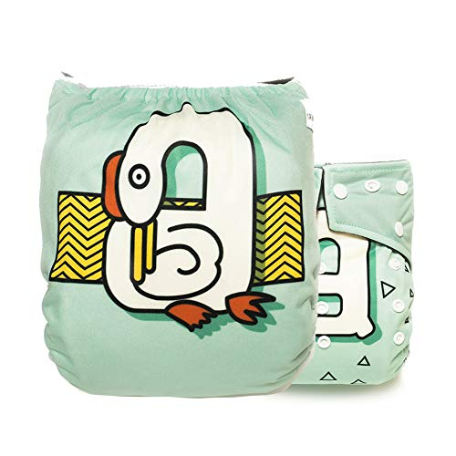 Kawaii Baby Super Value Pack 12 Reusable Cloth Diapers+12 Bamboo Inserts + 6 Free Bamboo Inserts for Baby boy and Girl for Your Little Toddlers Super Comfortable and Soft by Kawaii Baby (Image #4)