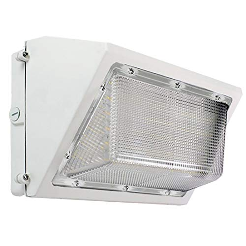 (harrrrd LED White Wall Pack - 80W 5000K Commercial Outdoor Light Fixture, White, (Out-Door Security Porch Lighting for Industrial Out-Side) 120-277V)