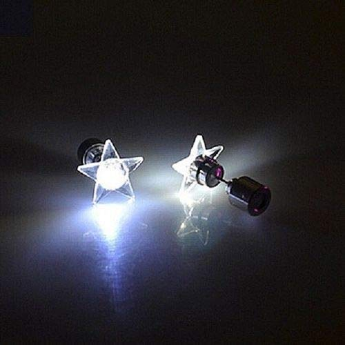 Pair of LED Lighted Star Post Earrings - Ea Star is About 1/2