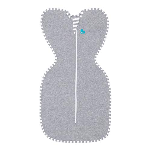 Grow Regular Neck - Love To Dream Swaddle UP, Gray, Small, 7-13 lbs, Dramatically Better Sleep, Allow Baby to Sleep in Their Preferred arms up Position for self-Soothing, snug fit Calms Startle Reflex
