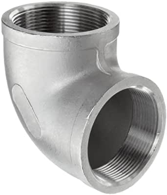 """Stainless Steel 304 Cast Pipe Fitting, 90 Degree Elbow, Class 150, 3/4"""" NPT Female"""
