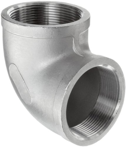 Stainless Steel 304 Cast Pipe Fitting, 90 Degree Elbow, Class 150, 1/2