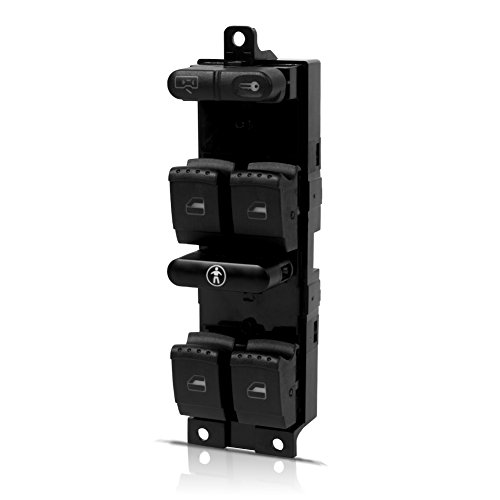 runmade Power Master Window Pannel Switch Console Control - for Volkswagen VW Beetle Passat B5 Jetta Golf Mk4 GTi R32 1998 1999 2000 2001 2002 2003 2004 2005 1J4959857 - Function: Master Lock/Unlock (Window Pannels)