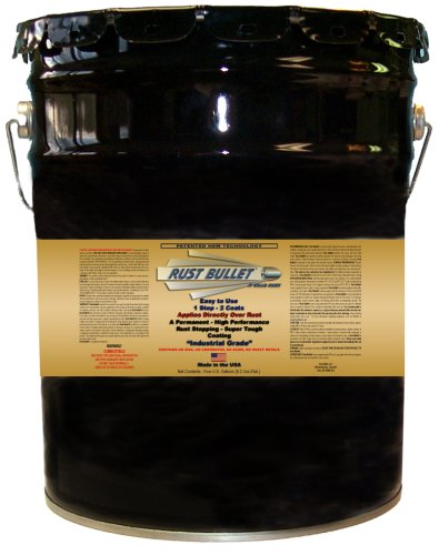 5 Gallon Pail - Rust Bullet Rust Inhibitor Paint, Industrial Coating - Metallic Grey by Rust Bullet