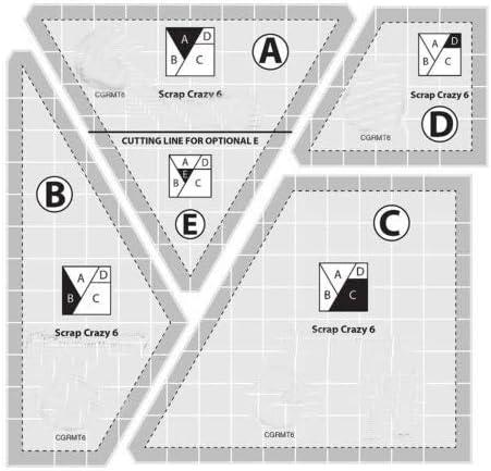 YICBOR - Juego de regla y plantilla para máquina de coser ...