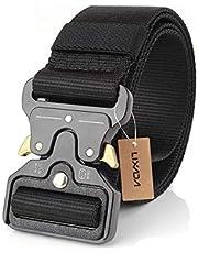 Nylon Military Waist Tactical Belt with Metal Buckle Adjustable