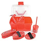 Lincoln Star Pattern Grooming Kit (One Size) (Red)